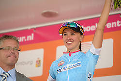 Kasia Niewiadoma (Rabo Liv) takes the lead in the youth classification after winning the 123 km Stage 3 of the Boels Ladies Tour 2016 on 1st September 2016 in Sittard Geleen, Netherlands. (Photo by Sean Robinson/Velofocus).