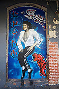 Michael Jackson mural in Chinatown.
