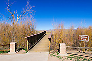 Observation deck at Bosque del Apache National Wildlife Refuge, New Mexico USA