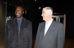 Left to right, designer OZWALD BOATENG and RUPERT HAMBRO at the launch party for 'The London Look - Fashion From Street to Catwalk' held at the Museum of London, London Wall, Londom EC2 on 28th October 2004<br />