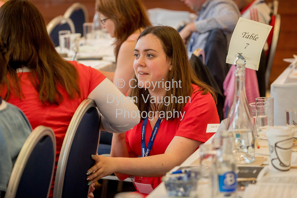 1-6-17<br />  <br /> Grace Williams, Intern pictured at the IMPACT Health and Welfare Division Conference in Wexford.<br /> Picture Dylan Vaughan.