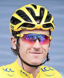 02.07.2017, Duesseldorf, GER, Tour de France, 2. Etappe von Düsseldorf (GER) nach Lüttich (BEL/203 km), im Bild THOMAS Geraint (GBR, Team Sky) // Geraint Thomas of Great Britain during Stage 2 from Duesseldorf (GER) to Luettich (BEL/203 km) of the 2017 Tour de France in Duesseldorf, Germany on 2017/07/02. EXPA Pictures © 2017, PhotoCredit: EXPA/ Martin Huber