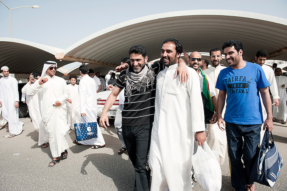 A group of Bedoons have just been released from prison in Kuwait city. They were arrested during the demonstration of May 1st 2012, when about 300 Bedoons gathered near al-Sha'bi mosque in Taima to demand government action on their citizenship claims and resolution of their stateless status. Abdul Hakeem al-Fadhli, a prominent Bedoon activist, was among those arrested. The ministry alleged that demonstrators ignored its repeated warning that illegal residents are not allowed to demonstrate. Kuwaiti authorities do not respect the rights of Bedoons to peaceful assembly. Masked officers normally use batons and armored vehicles to disperse and arrest the protesters, participants and Kuwaiti activists. Riot police use smoke bombs and hot water.