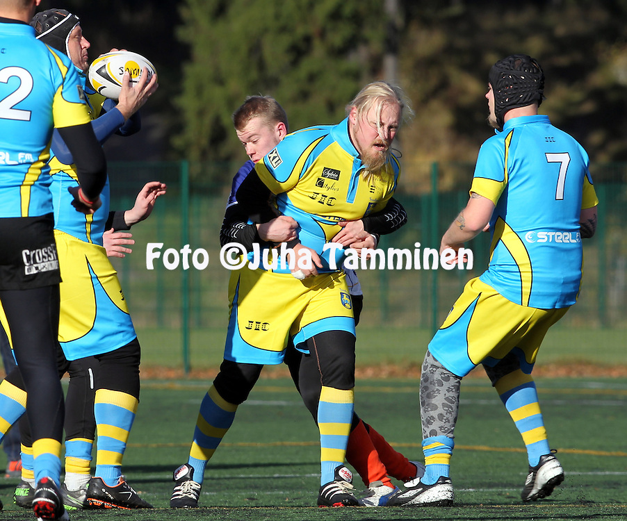 19.10.2013, Kaupin Urheilupuisto, Tampere, Finland.<br /> Friendly match, Finland Under-20 &quot;Rebels&quot; - &Aring;land Stags Rugby Club.