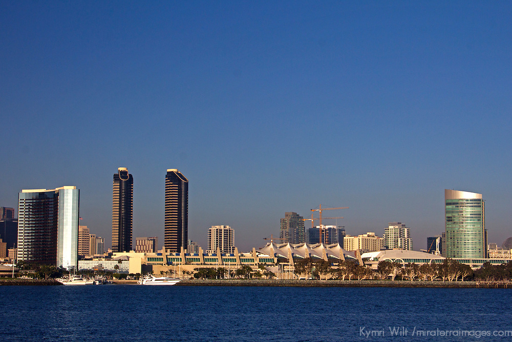 USA, California, San Diego. San Diego City Skyline and Convention Center.