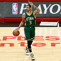 25 April 2017: Utah Jazz guard George Hill (3) is seen during the Utah Jazz 96-92 victory over the Los Angeles Clippers, during game 5 of the first round of the Western Conference playoffs, at the Staples Center, Los Angeles, California, USA.