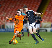 Callum Moore of Dundee and Cammy Ballantyne of Dundee United battle for the ball  - Dundee United v Dundee, SPFL Under 20 Development League at Tannadice Park, Dundee<br /> <br />  - &copy; David Young - www.davidyoungphoto.co.uk - email: davidyoungphoto@gmail.com