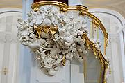 Kathedrale innen, Kanzel von Balthasar Permoser, Dresden, Sachsen, Deutschland.|.interior of cathedral, pulpit by Balthasar Permoser, Dresden, Germany