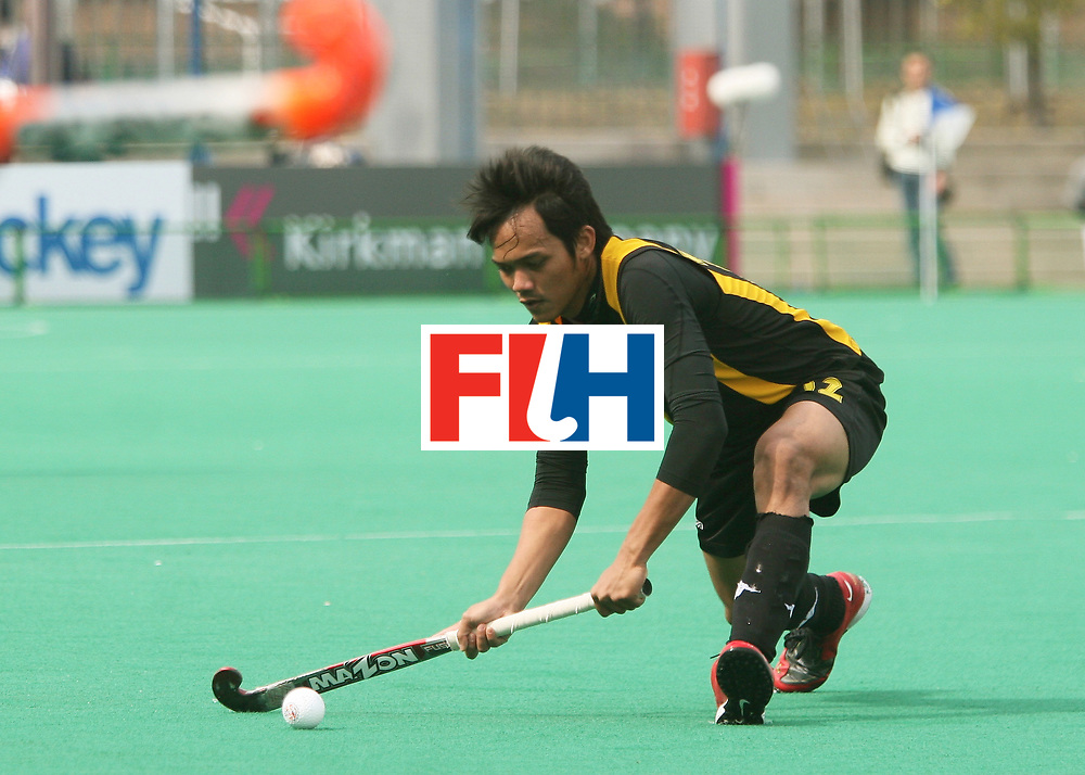 Kakamigahara,Gifu-Japan : Mohd Sukri of Malaysia in the match against Poland at the Olympic Hockey Qualifier in Gifu Perfectural Green Stadium at Kakamigahara on 05 April 2008.  <br /> Photo: GNN/ Vino John