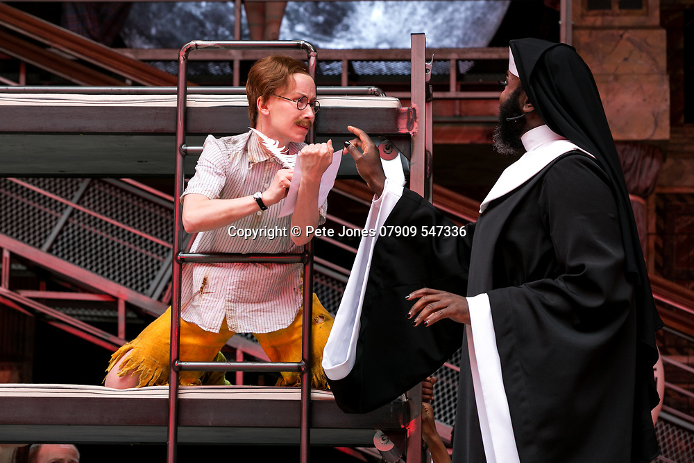 Twelfth Night by William Shakespeare;<br /> Directed by Emma Rice;<br /> Le Gateau Chocolat as Feste;<br /> Katy Owen as Malvolio;<br /> Shakespeare's Globe;<br /> London, UK;<br /> 23 May 2017<br /><br />© Pete Jones<br />pete@pjproductions.co.uk