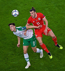 CARDIFF, WALES - Thursday, September 6, 2018: Wales' Gareth Bale and Republic of Ireland's Callum O'Dowda during the UEFA Nations League Group Stage League B Group 4 match between Wales and Republic of Ireland at the Cardiff City Stadium. (Pic by Laura Malkin/Propaganda)