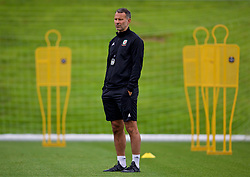 CARDIFF, WALES - Tuesday, September 4, 2018: Wales' manager Ryan Giggs during a training session at the Vale Resort ahead of the UEFA Nations League Group Stage League B Group 4 match between Wales and Republic of Ireland. (Pic by David Rawcliffe/Propaganda)