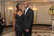DENISE LEWIS; ED MOSES, The Cartier Racing Awards. The Ballroom, Dorchester hotel. Park Lane. London. 15 November 2011. <br /> <br />  , -DO NOT ARCHIVE-© Copyright Photograph by Dafydd Jones. 248 Clapham Rd. London SW9 0PZ. Tel 0207 820 0771. www.dafjones.com.