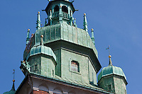 Detail of the Wawel Tower in Krakow Poland