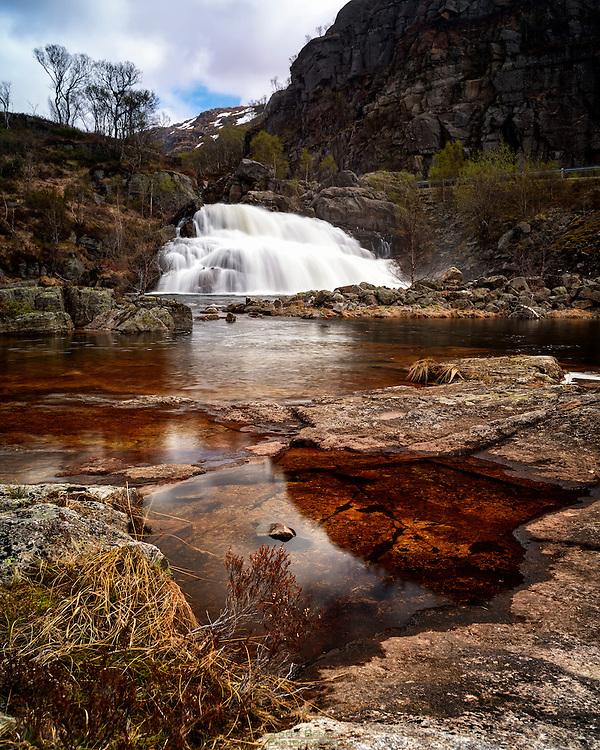 A waterfall at Stavtjørn.