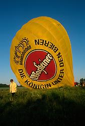 GERMANY SCHLESWIG-HOLSTEIN KIEL 9JUN02 - Sequence of the balloon's hull filling with hot air and gradually gaining upright position above the basket...jre/Photo by Jiri Rezac..© Jiri Rezac 2002..Contact: +44 (0) 7050 110 417..Mobile:  +44 (0) 7801 337 683.Office:  +44 (0) 20 8968 9635..Email:   jiri@jirirezac.com.Web:     www.jirirezac.com