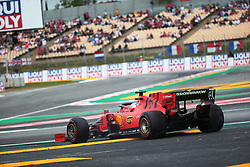 May 11, 2019 - Montmelò.Montmel&#Xf2, Catalunya, Spain - xa9; Photo4 / LaPresse.11/05/2019 Montmelo, Spain.Sport .Grand Prix Formula One Spain 2019.In the pic: Sebastian Vettel (GER) Scuderia Ferrari SF90 spins (Credit Image: © Photo4/Lapresse via ZUMA Press)