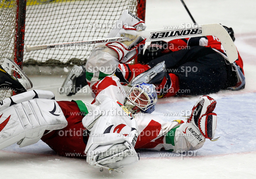 06.04.2012, Stadthalle, Villach, AUT, IIHF, Division I A WM, Vorbereitung, Oesterreich vs Weissrussland, im Bild Andrei Mezin (BLR) // during the IIHF Division One A World Championship preparation Match, between Austria and Belarus at the Cityhall Villach, Austria on 2012/04/06. EXPA Pictures © 2012, PhotoCredit: EXPA/ Oskar Hoeher.