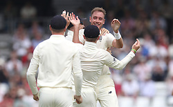 England's Stuart Broad celebrates taking the wicket of Pakistan's Azhar Ali, during day one of the second Investec Test Match at Headingley Carnegie, Leeds.