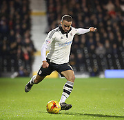 Fulham defender Ashley (Jazz) Richards launching an attack during the Sky Bet Championship match between Fulham and Ipswich Town at Craven Cottage, London, England on 15 December 2015. Photo by Matthew Redman.