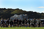 The All Blacks group together to listen to the coaches.<br /> All Blacks Training Session at Rugby League Park, Newtown, Wellington. Monday 21 July 2008. Photo: Dave Lintott/PHOTOSPORT