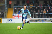 Wycombe Wanderers Midfielder Dominic Gape (4) controls the ball during the EFL Sky Bet League 2 match between Wycombe Wanderers and Carlisle United at Adams Park, High Wycombe, England on 3 February 2018. Picture by Stephen Wright.