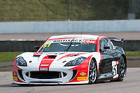 Alex Reed (GBR) / Joey Foster (GBR)  #51 Lanan Racing  Ginetta G55 GT4 British GT Championship at Rockingham, Corby, Northamptonshire, United Kingdom. April 30 2016. World Copyright Peter Taylor/PSP.