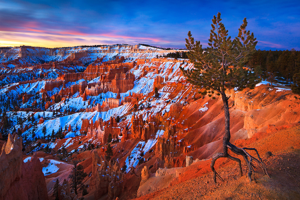 Sunrise at Bryce Canyon National Park in Utah.