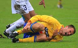 Dalibor Radujko injured at 20. round of PrvaLiga Telekom Slovenije 2008/2009 match between NK Luka Koper and NK Hit Gorica, on December 6, 2008,  in Stadium Bonifika, Koper, Slovenia. Koper won 3:1.(Photo by Vid Ponikvar / Sportida)