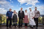 Chieti , la Famiglia Tinari , ristorante Villa Maiella. da sn Arcangelo, Ginetta, Peppino, Arcangelo, Pascal
