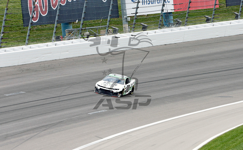 Landon Cassill (00)  takes to the track for the KC Masterpiece 400 at Kansas Speedway in Kansas City, Kansas.