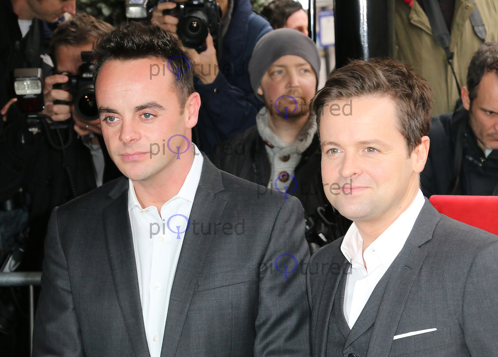 Anthony McPartlin; Declan Donnolly, The Television and Radio Industries Club (TRIC) Awards, Grosvenor House Hotel, London UK, 11 March 2014, Photo by Richard Goldschmidt