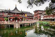The Huxinting Teahouse in Yu Yuan Gardens Shanghai, China