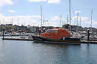 Lifeboat in Dun Laoghaire marina in Dublin Ireland