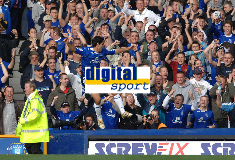 Photo: Paul Greenwood.<br />Everton v Sheffield United. The Barclays Premiership. 21/10/2006. Everton's Mikel Arteta celebrates his goal.