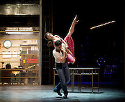 The Car Man <br /> by Matthew Bourne <br /> at Sadler's Wells, London, Great Britain <br /> press photocall<br /> 16th July 2015 <br /> <br /> <br /> <br /> Marcelo Gomes and Ashley Shaw <br /> <br /> <br /> Photograph by Elliott Franks <br /> Image licensed to Elliott Franks Photography Services