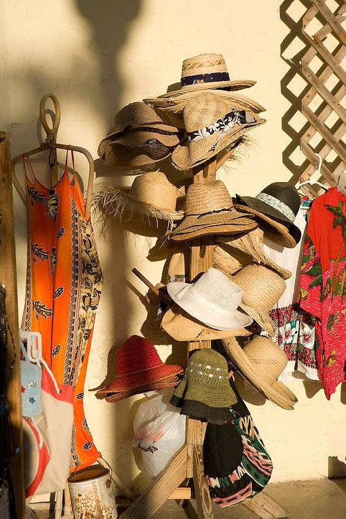 Sourvenirs for sale at International Bazaar, Grand Bahama Island, Bahamas