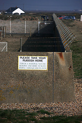 UK ENGLAND DUNGENESS 24MAR12 - Perimeter wall surrounding the Dungeness nuclear power station on the Kent coast.....jre/Photo by Jiri Rezac....© Jiri Rezac 2012