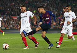 October 20, 2018 - Barcelona, Catalonia, Spain - Philippe Coutinho during the match between FC Barcelona and Sevilla CF, corresponding to the week 9 of the Liga Santander, played at the Camp Nou, on 20th October 2018, in Barcelona, Spain. (Credit Image: © Joan Valls/NurPhoto via ZUMA Press)