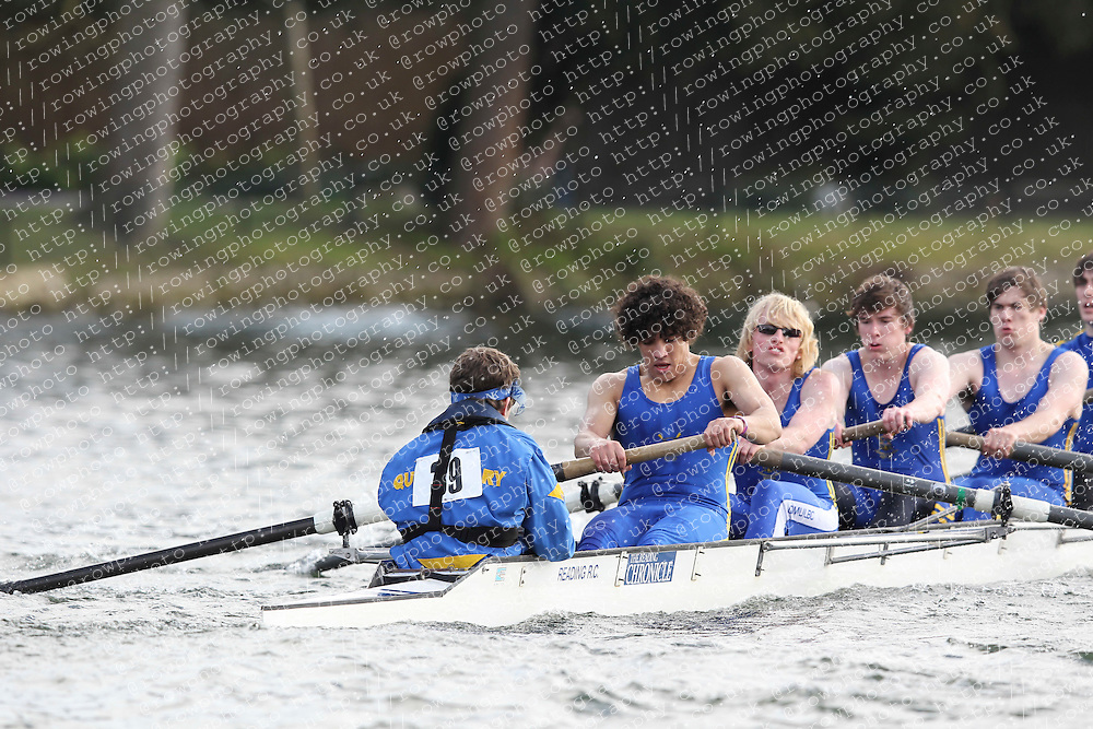 2012.02.25 Reading University Head 2012. The River Thames. Division 1. Queen Mary Boat Club IM3 8+