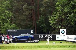 England's Aaron Rai plays tees on the 14th hole during day two of the 2018 BMW PGA Championship at Wentworth Golf Club, Surrey.