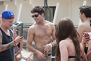 EXCLUSIVE<br /> Tom Pierce and Diags from TOWIE in enjoy the company of women while they party in Magaluf<br /> ©Exclusivepix
