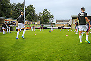 Cheltenham Town players warming up during the Gloucestershire Senior Cup match between Forest Green Rovers and Cheltenham Town at the New Lawn, Forest Green, United Kingdom on 20 September 2016. Photo by Shane Healey.