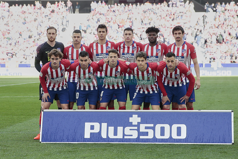 March 9, 2019 - Madrid, Madrid, Spain - Atletico de Madrid's team photo during La Liga match between Atletico de Madrid and CD Leganes at Wanda Metropolitano stadium in Madrid. (Credit Image: © Legan P. Mace/SOPA Images via ZUMA Wire)