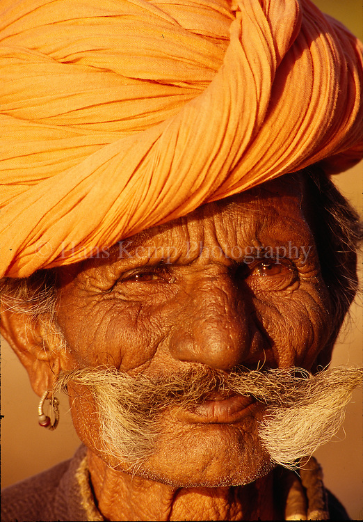 Portrait of a Rajasthani man