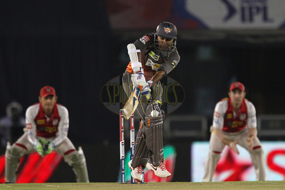 Parthiv Patel during match 59 of of the Pepsi Indian Premier League between The Kings XI Punjab and the Sunrisers Hyderabad held at the PCA Stadium, Mohal, India  on the 11th May 2013..Photo by Ron Gaunt-IPL-SPORTZPICS ..Use of this image is subject to the terms and conditions as outlined by the BCCI. These terms can be found by following this link:..http://www.sportzpics.co.za/image/I0000SoRagM2cIEc