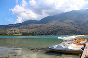 Pedal boat on Lake Kournas, Crete Island