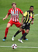 Phoenix player Roy Krishna during their Hyundai A League match. Wellington Phoenix v Melbourne City FC. Westpac Stadium, Wellington, New Zealand. Saturday 26 January 2019. ©Copyright Photo: Chris Symes / www.photosport.nz