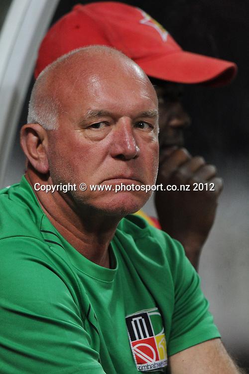 Zimbabwe coach coach Alan Butcher during the 2nd Twenty20 InternationaI cricket match between New Zealand and Zimbabwe at Seddon Park in Hamilton, New Zealand on Tuesday 14 February 2012. Photo: Andrew Cornaga/Photosport.co.nz