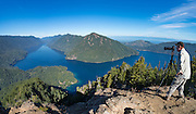 Local photographer Roger Mosley captures the view of Lake Crescent from Mt.Storm King in Olympic National Park.